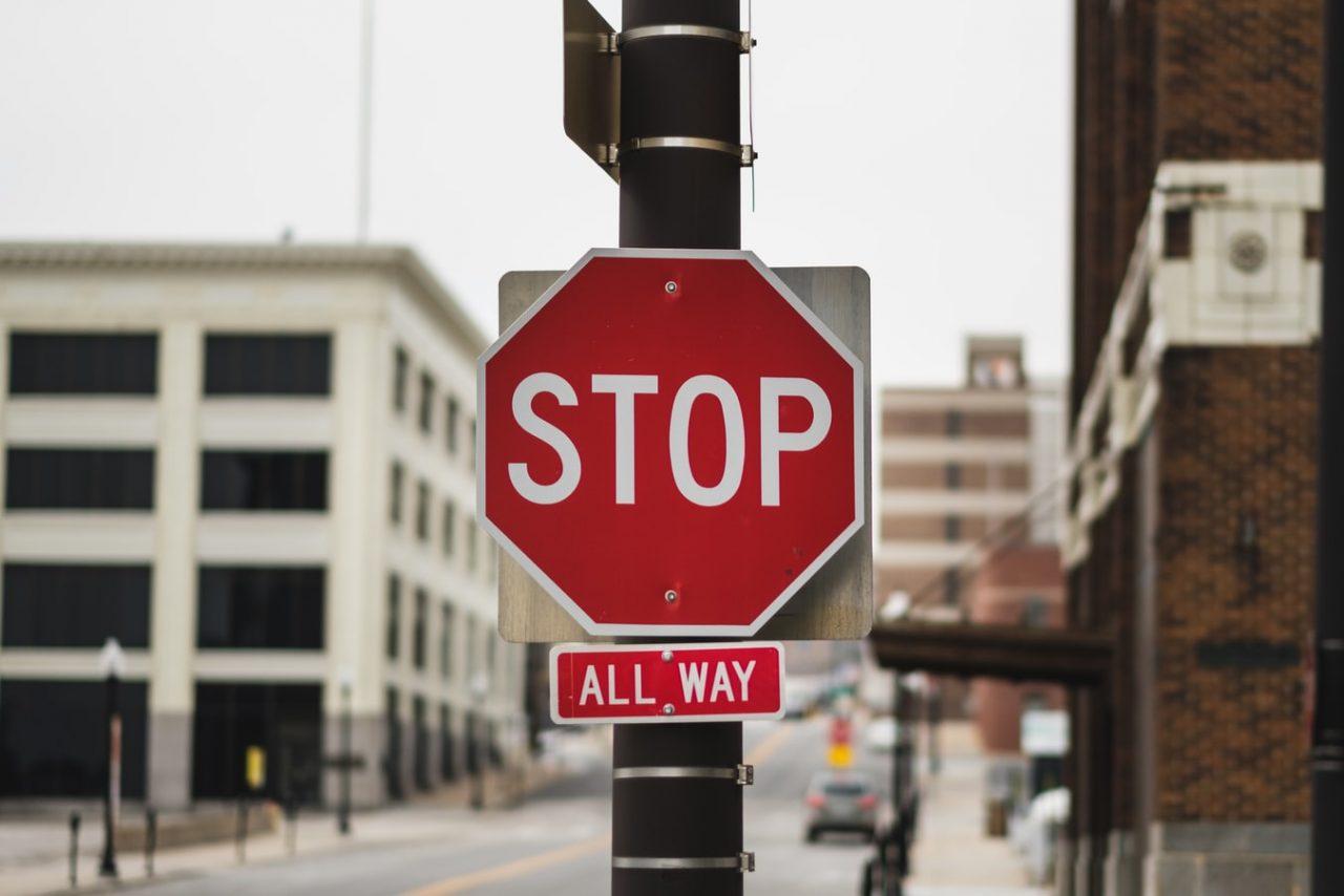 Stop tábla USA-ban